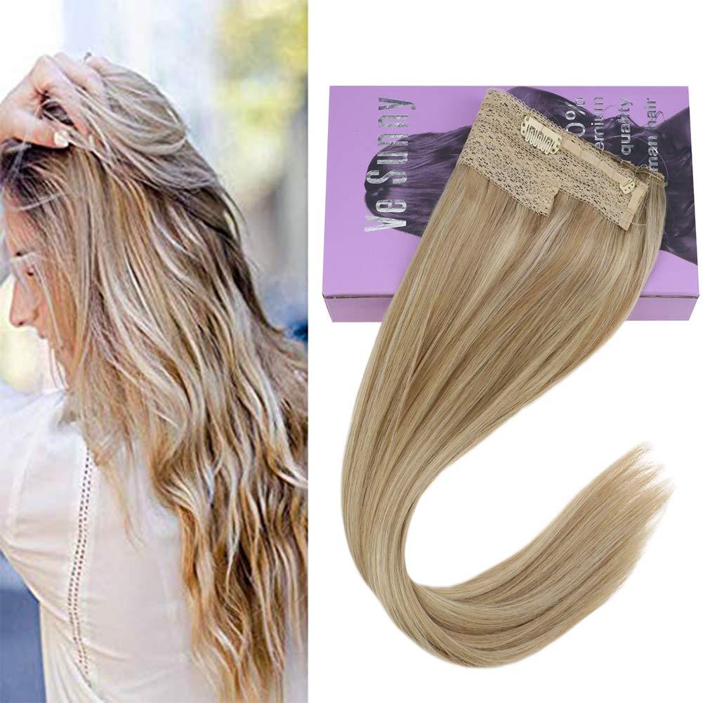 VeSunny-Ash-blonde-halo-extensions-amazon
