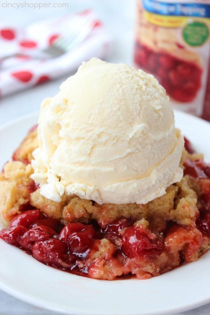 STYLECASTER | Slow-Cooker Dessert Recipes | cherry dump cake