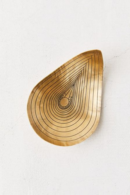 STYLECASTER | home office decor trends brass
