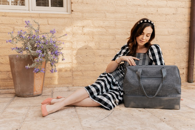 STYLECASTER | BEIS Woven Collection Weekender Bag