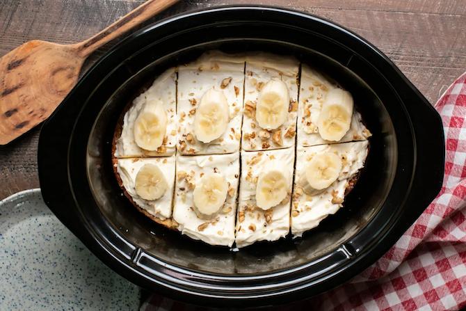 STYLECASTER | Slow-Cooker Dessert Recipes | banana nut cake
