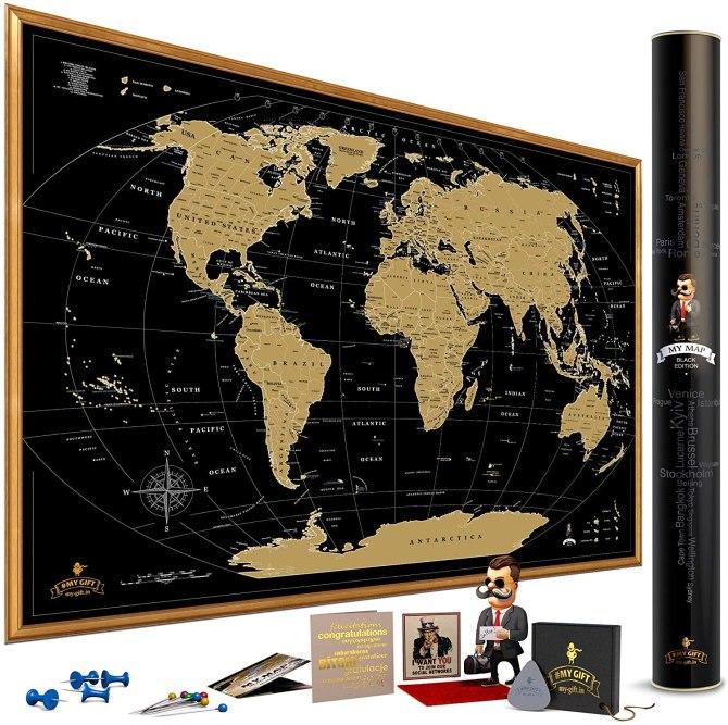 STYLECASTER | my map world map poster, Aquarius April horoscope 2020