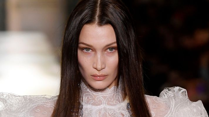 Bella Hadid's Retro-Chic Bangs Are a Welcome Distraction From the News