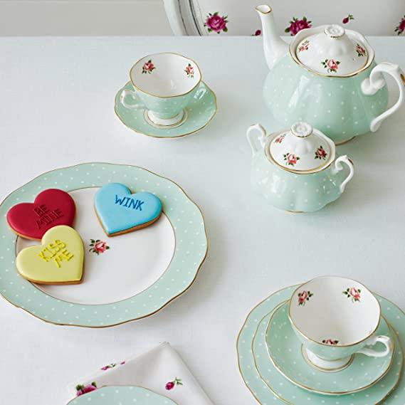 STYLECASTER | Virtual Party Theme Ideas | Royal Albert tea set