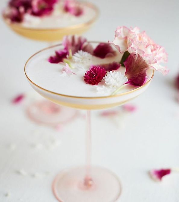 STYLECASTER | Virtual Party Theme Ideas | gilded rim coupe glass