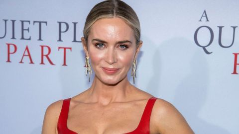 Emily Blunt's Red Leather and Lace Dress Might Be the Sexiest Thing I've Ever Seen   StyleCaster