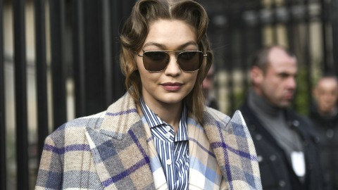 Gigi Hadid Is Officially the Queen of Pattern Mixing   StyleCaster