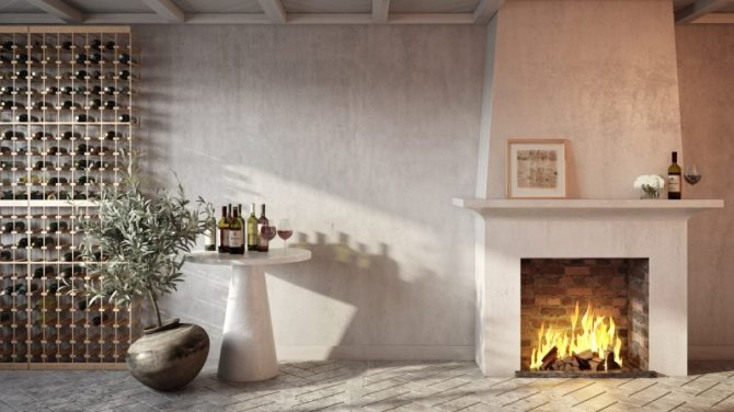STYLECASTER | Home Interior Zoom Backgrounds | fireplace cozy living room