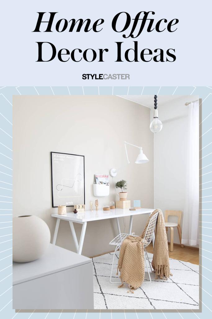 STYLECASTER | home office decor ideas