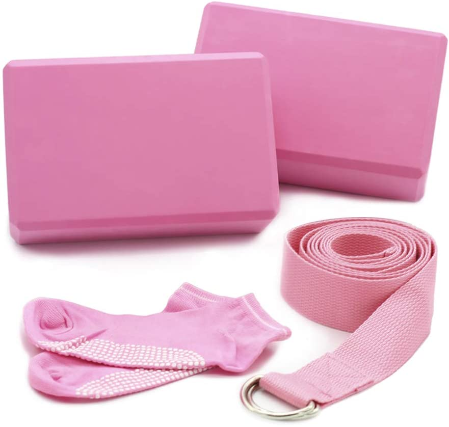 Nagu yoga block and strap amazon