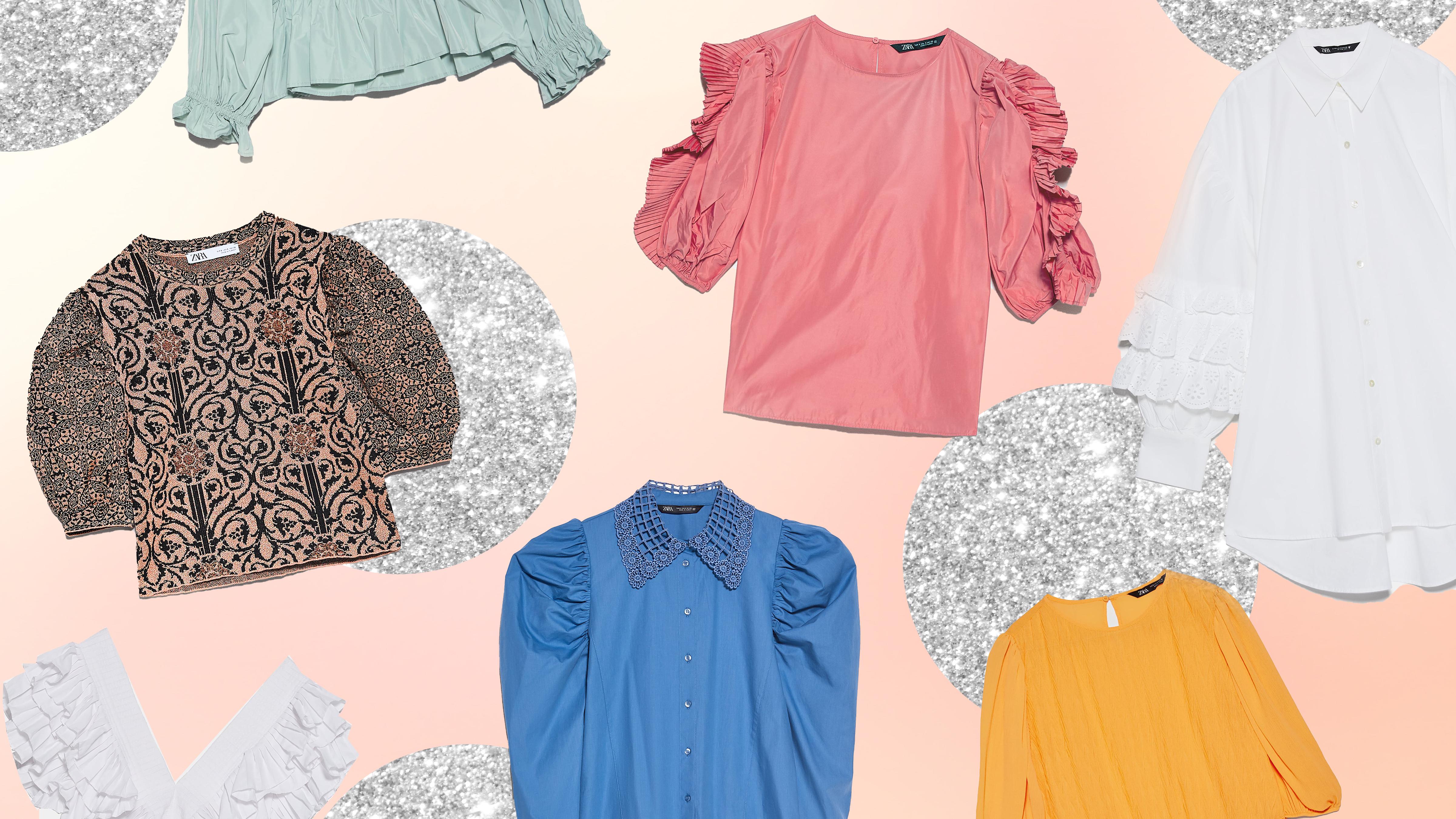 21 Zara Tops That Nail This Season's Statement Sleeve Trend