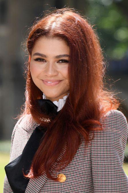 zendaya bright red hair