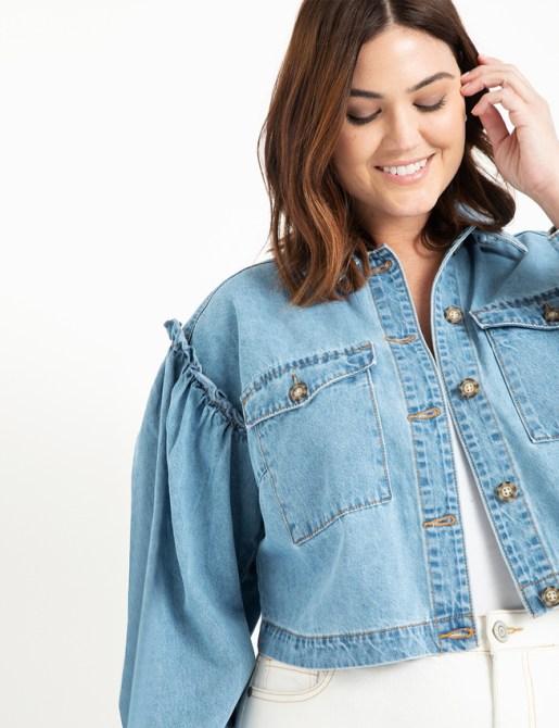 STYLECASTER | Eloquii Spring 2020 Sale | cropped denim jacket