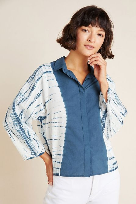 STYLECASTER   Anthropologie Sale April 2020   tie dye blouse
