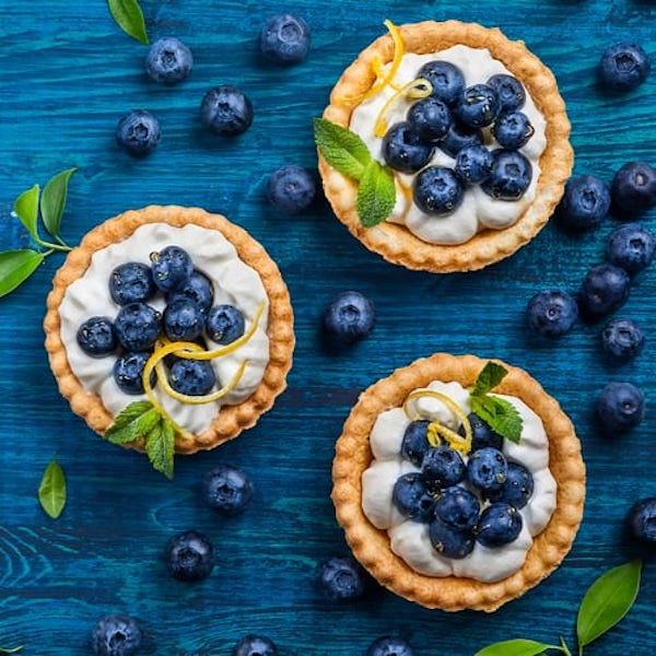 STYLECASTER | Edible Weed Recipes | blueberry pies