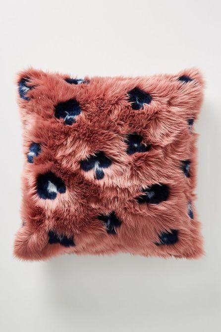 STYLECASTER   Anthropologie Sale April 2020   faux fur pillow