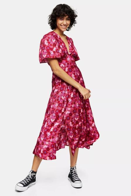 STYLECASTER | Topshop Sale April 2020 | pink floral dress