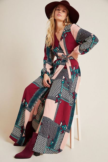 STYLECASTER   Anthropologie Sale April 2020   wrap maxi dress