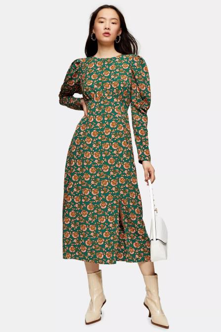STYLECASTER | Topshop Sale April 2020 | green floral dress