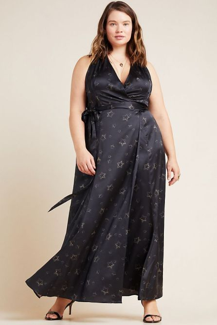 STYLECASTER   Anthropologie Sale April 2020   black wrap dress