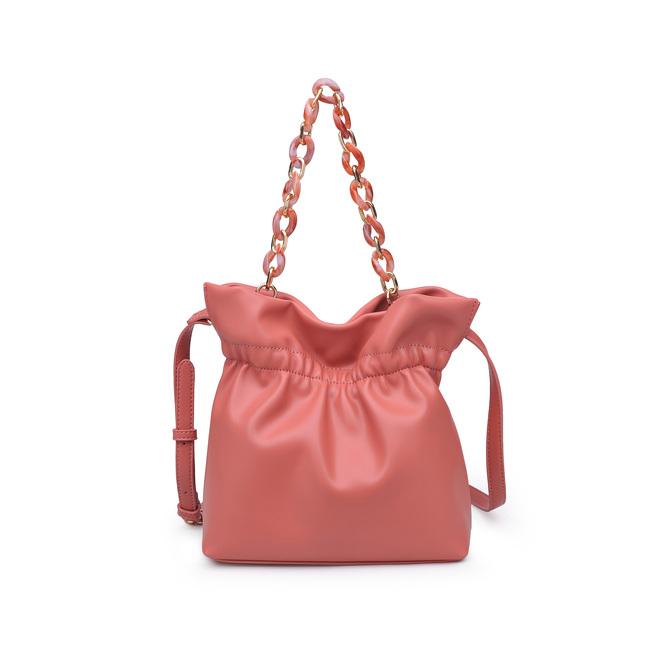 STYLECASTER | Eloquii Spring 2020 Sale | pink resin handle bucket bag
