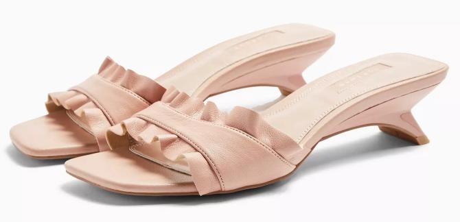 STYLECASTER | Topshop Sale April 2020 | pink mule heels