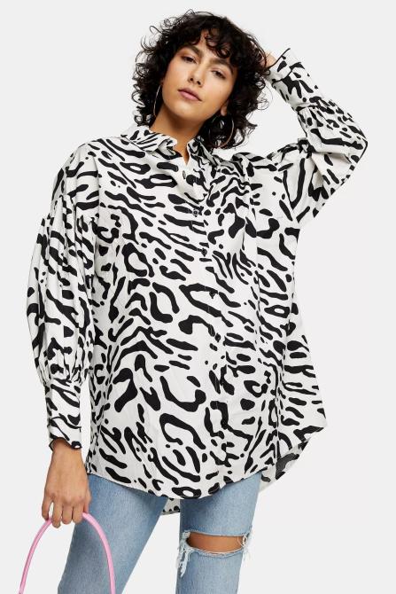 STYLECASTER | Topshop Sale April 2020 | animal print blouse