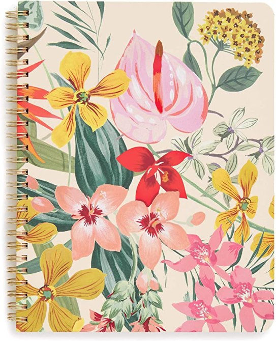 STYLECASTER | Graduation Gift Ideas 2020 | floral notebook
