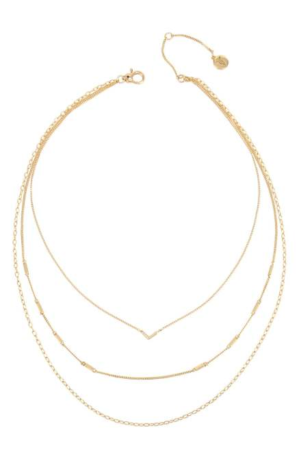 STYLECASTER | Nordstrom Sale Jewelry | allsaints triple layer necklace