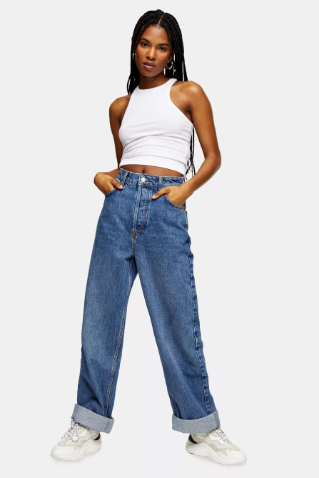 STYLECASTER | Topshop Sale April 2020 | blue mom jeans