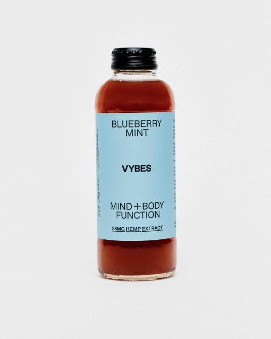 STYLECASTER | Best CBD Drinks | Vybes blueberry mint