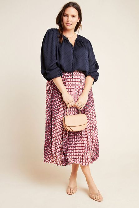 STYLECASTER   Anthropologie Sale April 2020   pleated skirt