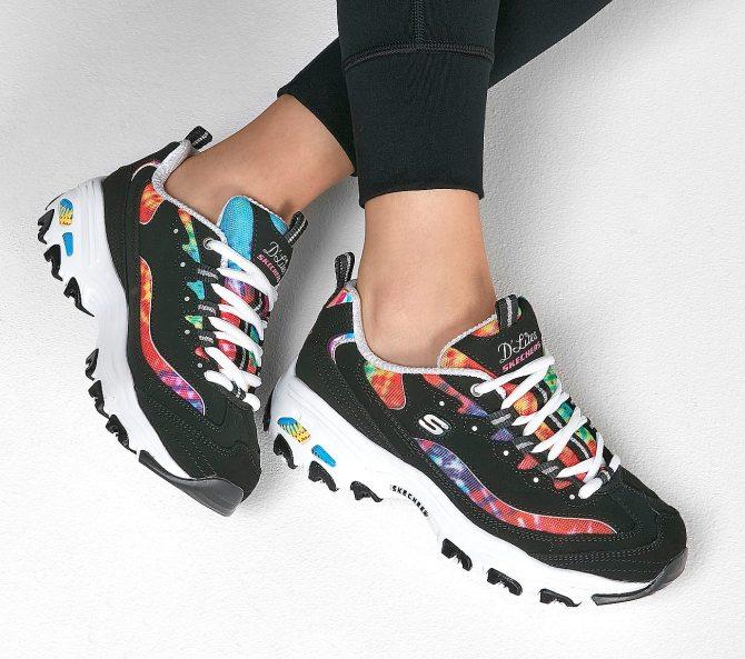 STYLECASTER | Tie Dye Trend 2020 | tie dye skechers sneakers