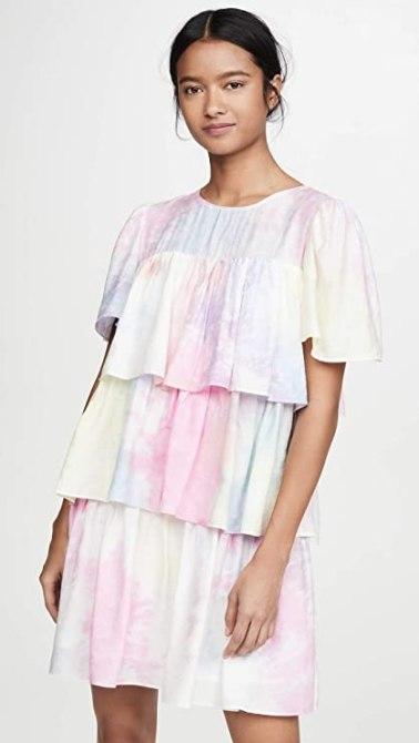 STYLECASTER | Coachella Fashion Trends 2020 | tiered mini dress