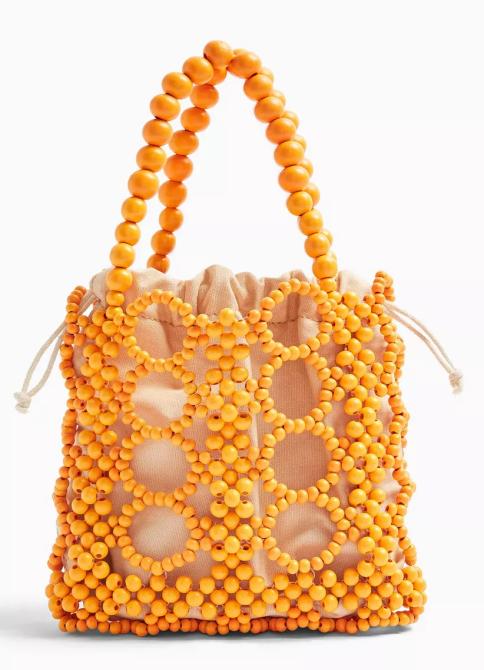 STYLECASTER | Topshop Sale April 2020 | orange beaded bag
