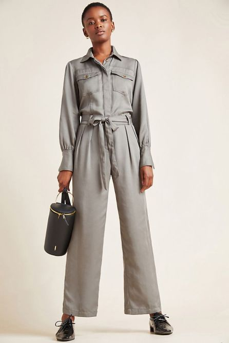 STYLECASTER   Anthropologie Sale April 2020   gray jumpsuit
