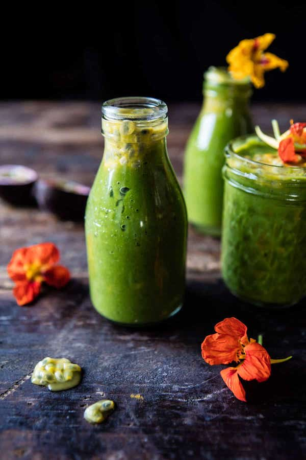 STYLECASTER | Superfood Smoothie Recipes | mango spinach smoothie