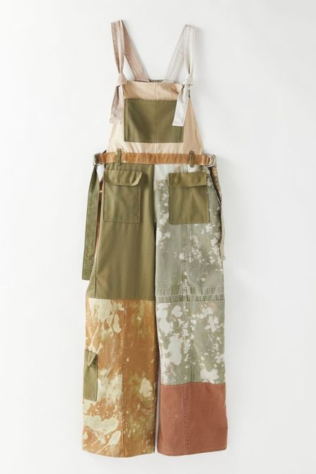 STYLECASTER | Urban Outfitters Vintage Collections | khaki pieced overalls