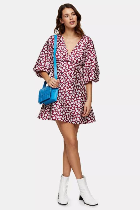 STYLECASTER | Topshop Sale April 2020 | floral red dress