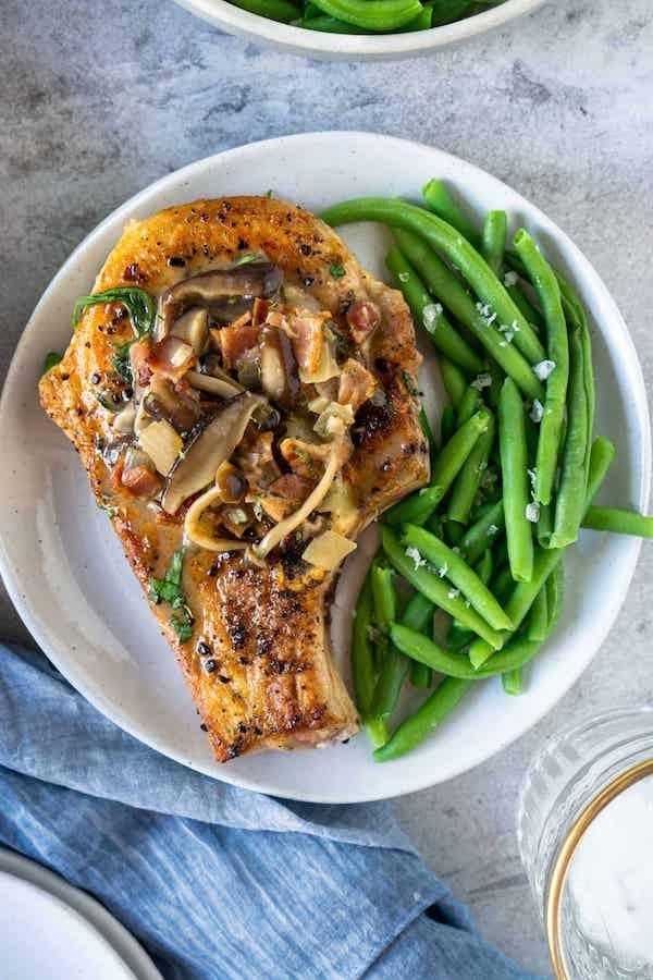 STYLECASTER   Easy Keto Recipes   smothered pork chops