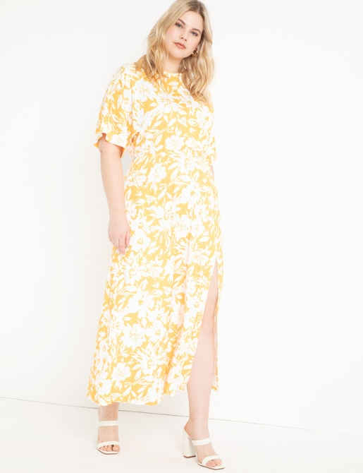 STYLECASTER | Eloquii Spring 2020 Sale | yellow floral dress