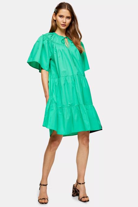STYLECASTER | Topshop Sale April 2020 | bright green dress
