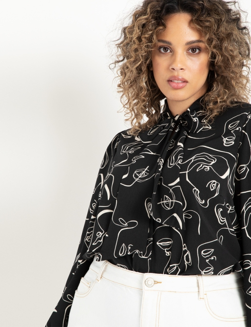 STYLECASTER | Eloquii Spring 2020 Sale | tie front blouse