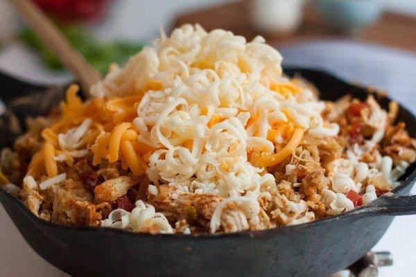 STYLECASTER   Easy Keto Recipes   cheesy mexican skillet
