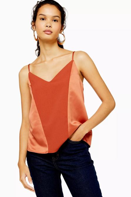 STYLECASTER | Topshop Sale April 2020 | dark orange cami