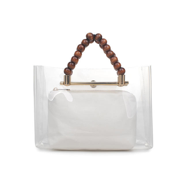 STYLECASTER | Eloquii Spring 2020 Sale | clear beaded handle bag