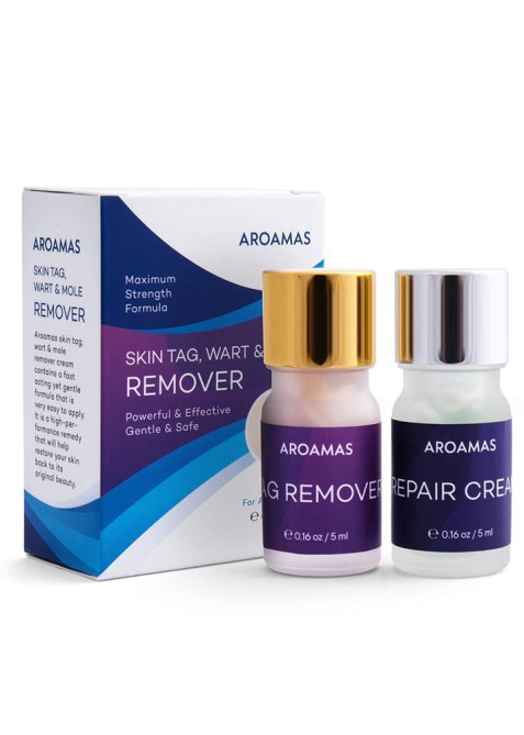 Aroamas Skin Tag, Wart & Mole Remover Cream & Repair Lotion Set