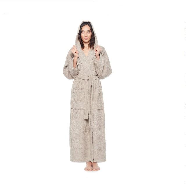 Arus Women's Hooded Classic Bathrobe