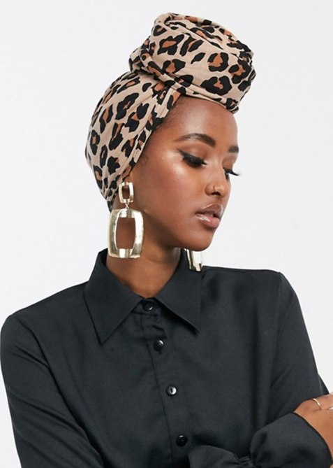 ASOS leopard print headscarf