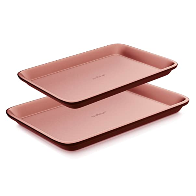 best rose gold baking sheets nutrichef